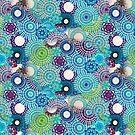 Blue/Green Spirograph Design by RachelEDesigns