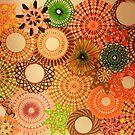 Autumn Coloured Spirograph Design by RachelEDesigns