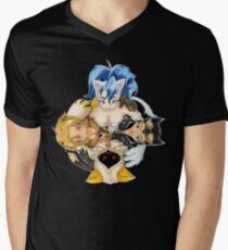 Kitty Cuddle: Felicia, Seliena, Cheetara, Taokaka Mens V-Neck T-Shirt