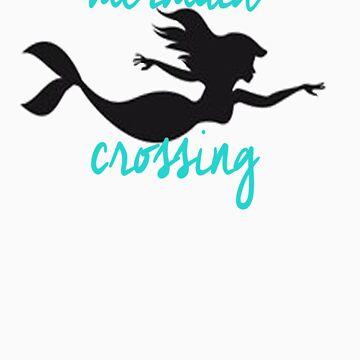 mermaid crossing by littlemirmaid