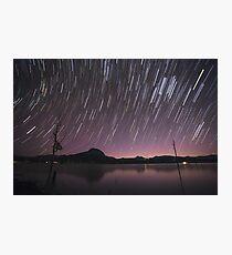 Star Trails Over Lake Moogerah 2 Photographic Print
