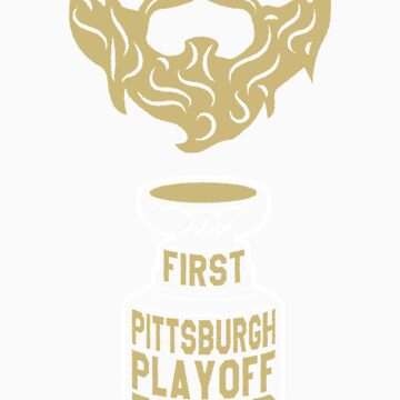 First PITTSBURGH Playoff Beard by pointandthread