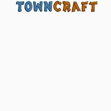 TownCraft Logo Tee by FlatEarthGames