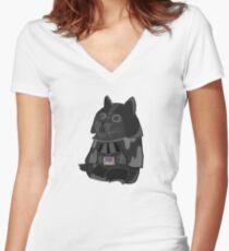 Doge Vader/Darth Vader Women's Fitted V-Neck T-Shirt