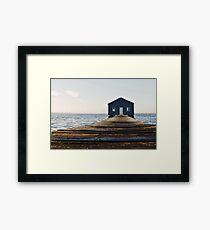 Crawley Edge Boat Shed Perth Framed Print