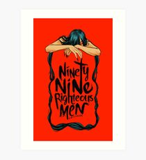 Ninety-Nine Righteous Men Cover Art Print