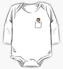 Frisk in the Pocket (v2) - Undertale One Piece - Long Sleeve