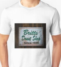 Britt's Donut Shop Sign 1 Unisex T-Shirt