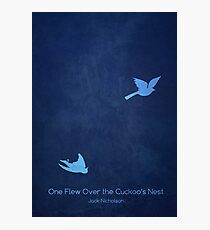 One Flew Over the Cuckoo's Nest Minimalist Poster Photographic Print