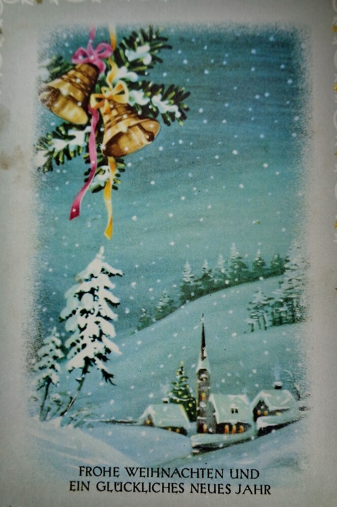 Old Christmas card by Ana Belaj