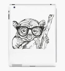 monkey with geek glasses iPad Case/Skin