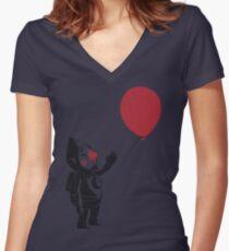 balloon fairy Women's Fitted V-Neck T-Shirt