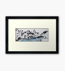 Galway city monochrome Framed Print
