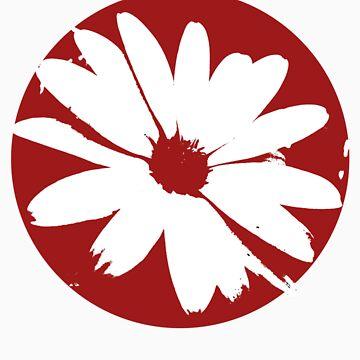 Red Circle Flower by ShazimaStudios