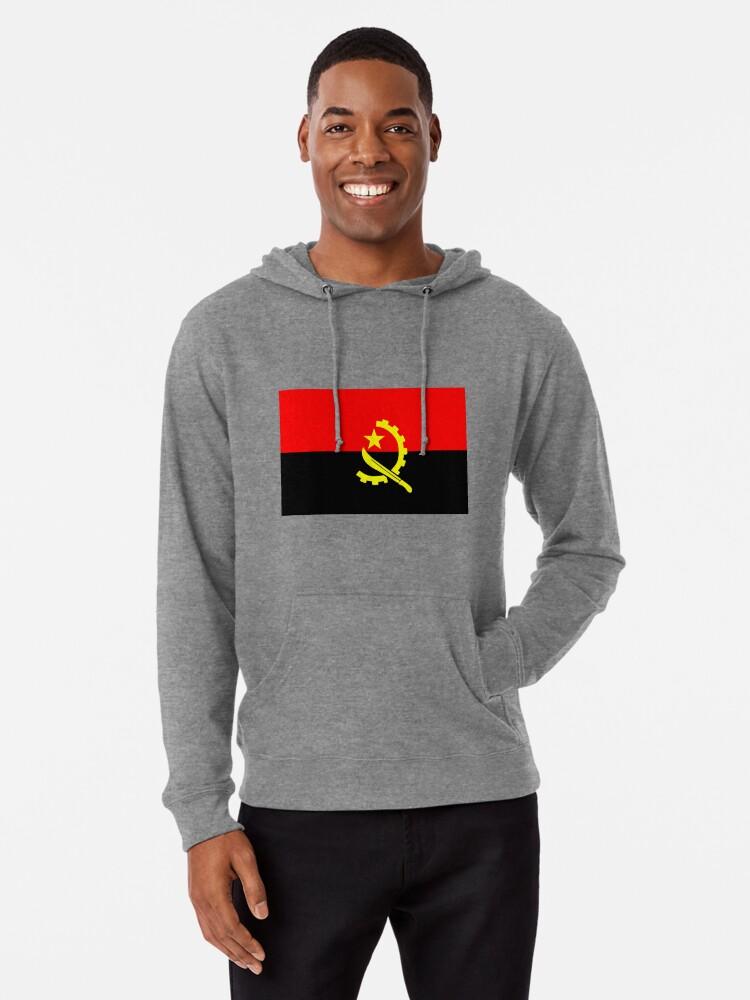 Mens Hoodies Flag of Angola Best Pullover Hooded Print Sweatshirt Jackets