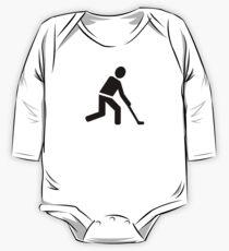 Field hockey player symbol One Piece - Long Sleeve