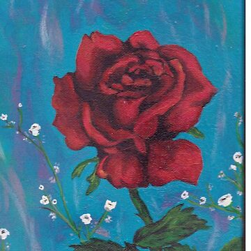 Rose painting,colorful de AUDREYHELLADOPE