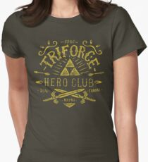 Triforce Hero Club Womens Fitted T-Shirt