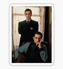 The Godfather - Al Pacino, Robert De Niro Sticker