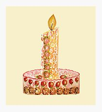 Strawberry cake for Christmas Photographic Print