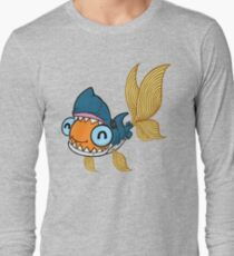 Goldfish in a Shark Costume! Long Sleeve T-Shirt