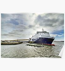 Nova Star Ferry at the Lobster Rock Wharf Poster