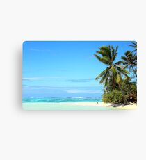 Palm and Reef  on a Remote Island Canvas Print
