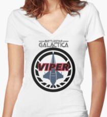 Viper Pilot Logo Women's Fitted V-Neck T-Shirt