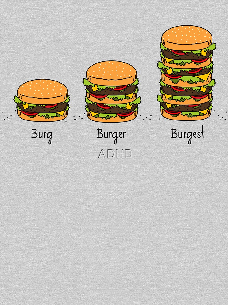 Burger explained: Burg. Burger. Burgest by ADHD