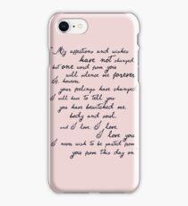 Pride and Prejudice, Darcy (black) Quote  iPhone Case/Skin