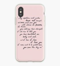Pride and Prejudice, Darcy (black) Quote  iPhone Case