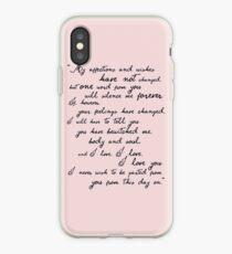 Pride and Prejudice, Darcy (black) Quote  iPhone Case