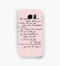 Pride and Prejudice, Darcy (black) Quote  Samsung Galaxy Case/Skin