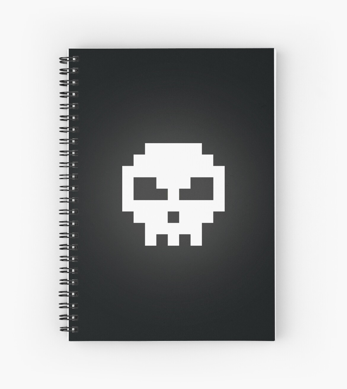 White Retro Game Skull  by MaiklsC