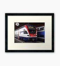 Swiss train Framed Print