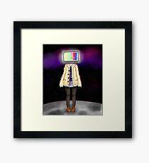 TV Head Framed Print