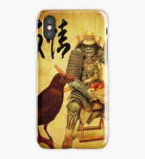 The old samurai and his faithful friendly the crow iPhone Case/Skin