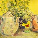 still life with teapot by christine purtle