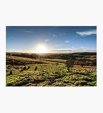 Sunset over Northumberland National Park Photographic Print