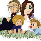 Fullmetal Alchemist Elric Family Chibi by NikuNoKao