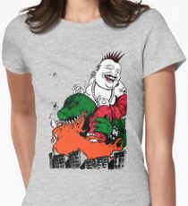 Sit Down and Shut Up Artwork in Color (textless) Women's Fitted T-Shirt