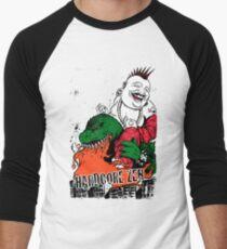 Sit Down & Shut Up Artwork in Color! Men's Baseball ¾ T-Shirt