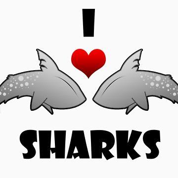 I Love Sharks! by ShazimaStudios