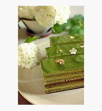 Gâteau Opéra au thé vert Matcha  La verdure Photographic Print