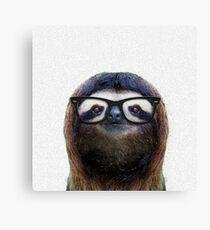 Geek Sloth Canvas Print