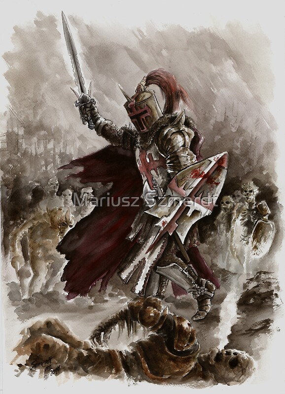 Quot Dark Crusader Medieval Knight Templars Warrior Quot By