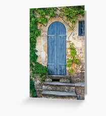 The old doorway in Provence Greeting Card