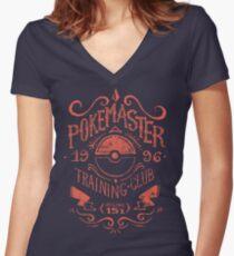 Pokemaster Training Club Women's Fitted V-Neck T-Shirt