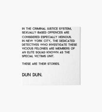 Law & Order: Special Victims Unit Art Board