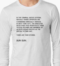 Camiseta de manga larga Ley y orden: Unidad de víctimas especiales